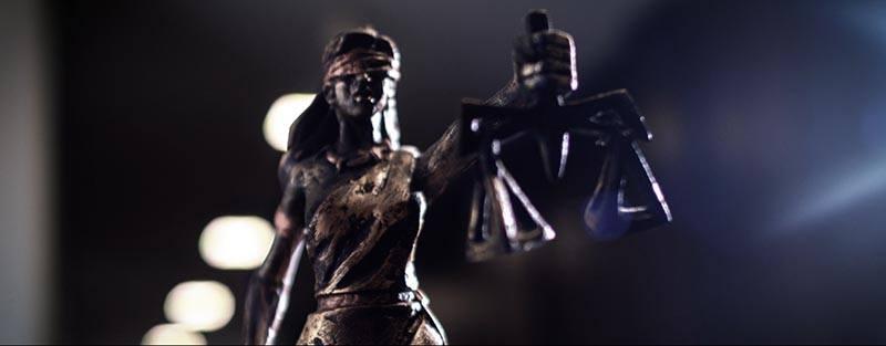 Estátua da Themis. Imagem do filme institucional OAB/RS produzido pela Cinematográfica